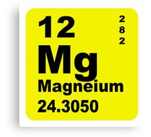 Magnesium Periodic Table of Elements Canvas Print