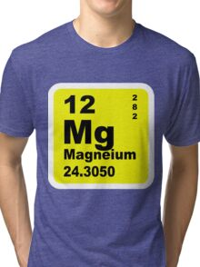 Magnesium Periodic Table of Elements Tri-blend T-Shirt