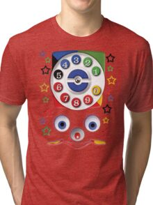 Smiley Toys Dial Phone Tri-blend T-Shirt