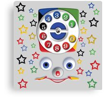Smiley Toys Dial Phone Canvas Print