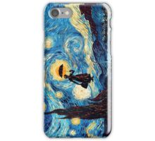The Flying Lady with an Umbrella Oil Painting iPhone Case/Skin