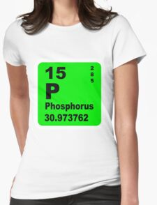 Phosphorus Periodic Table of Elements Womens Fitted T-Shirt
