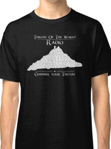 Throat of the World Radio - White on Black Classic T-Shirt