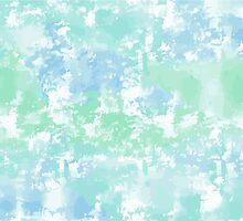 Green-blue watercolor by kylmaviha