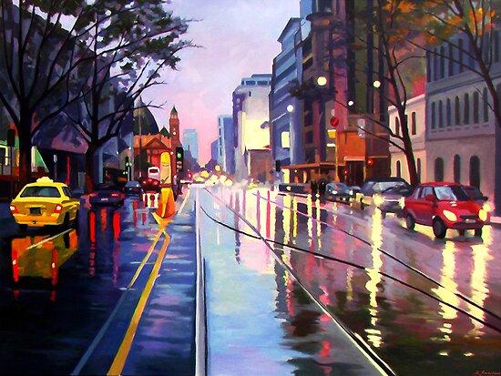 Flinders Street by Guntis Jansons