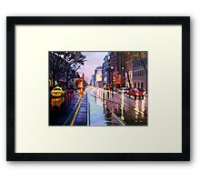 Flinders Street Framed Print