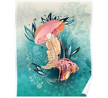 Jellyfish tangling Poster