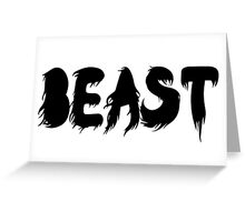 & the Beast Greeting Card