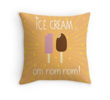 Ice creams... Throw Pillow