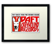 Daft Greyhound Records (posters, duvets, etc) Framed Print