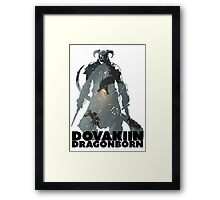 Dovakiin/Dragonborn Art Decal Framed Print