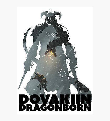 Dovakiin/Dragonborn Art Decal Photographic Print