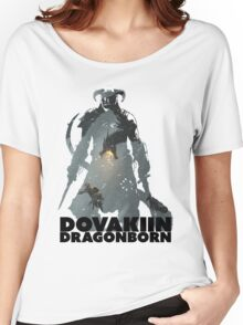 Dovakiin/Dragonborn Art Decal Women's Relaxed Fit T-Shirt