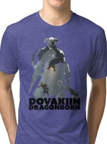 Dovakiin/Dragonborn Art Decal Tri-blend T-Shirt