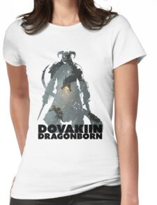 Dovakiin/Dragonborn Art Decal Womens Fitted T-Shirt
