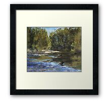 Wilson River 1 - paint out Framed Print