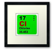 Chorine Periodic Table of Elements Framed Print