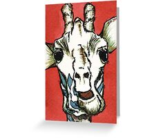 Talking Giraffe Greeting Card