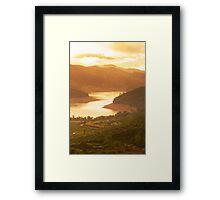 Sunrise @ emerald Framed Print