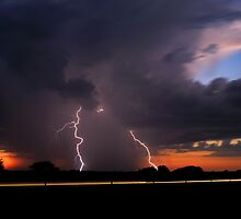 Sunset CG strike! by Jeremy  Jones