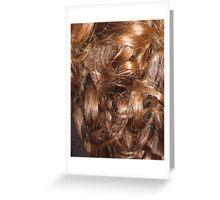 Hairscape - Shiny Auburn Hair Greeting Card