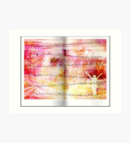 Conversion of the Soul (Psalm 19) Art Print