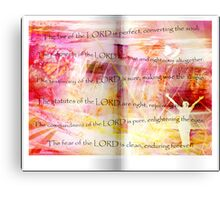 Conversion of the Soul (Psalm 19) Canvas Print