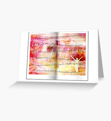 Conversion of the Soul (Psalm 19) Greeting Card