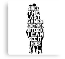 I can see it, hope - Hand Canvas Print