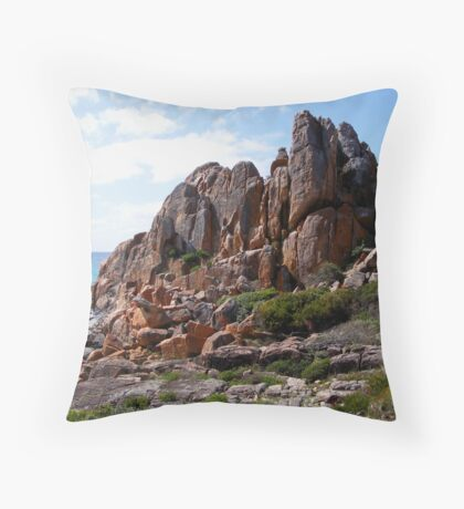 Coastline - Western Australia - Castle Rock Throw Pillow