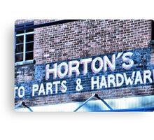 Horton's Hardware Store Canvas Print