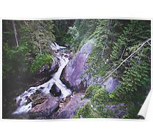 Beautiful Forest Waterfall  Poster