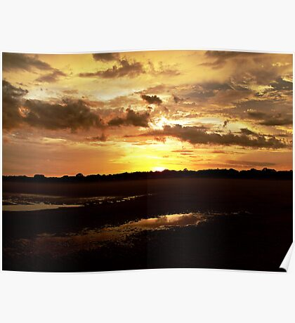 Sunset on the Beach II Poster