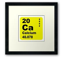 Calcium Periodic Table of Elements Framed Print