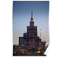 Evening Over The Palace of Culture and Science, Warsaw Poster
