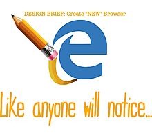Microsoft Edge Browser Funny Photographic Print