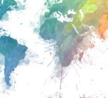 World Map splash 2 Sticker