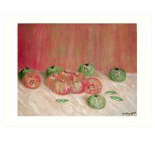 (Tony's) Apples & Pomegranates  Art Print