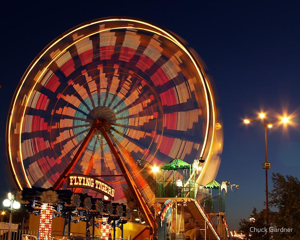 The Ferris Wheel of Lights  by Chuck Gardner