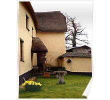 Cottage back garden Poster