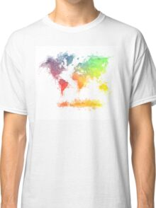 World Map splash 4 Classic T-Shirt