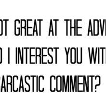 Quote - Sarcasm Sticker