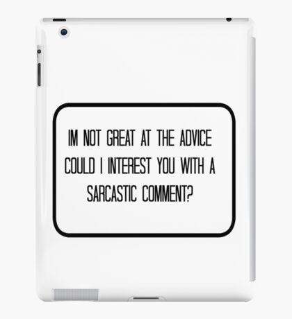 Quote - Sarcasm iPad Case/Skin