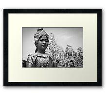 Cambodian Aspara Dancer Framed Print