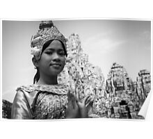 Cambodian Aspara Dancer Poster