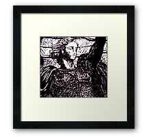 Paris Winged Warrior  Framed Print