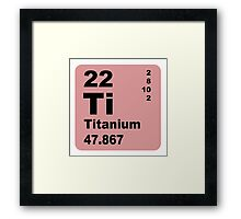 Titanium Periodic Table of Elements Framed Print