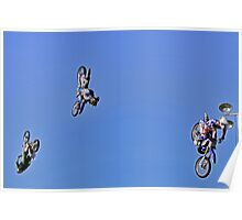 Motocross-Stunt Riders  Going Up & Over the Top Poster
