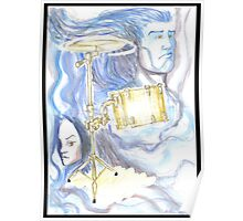 Drums and blue stuff Poster