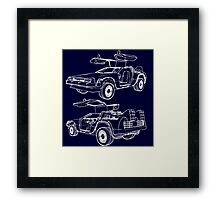 Delorean Time Machine Framed Print